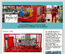 Produced Water Oil Spills Solution fracking shale  orders and sales News from Voraxial