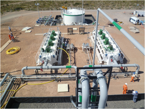 produced water separator at Argentine Facility